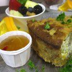 Chicken Pecan Tart at Lunch